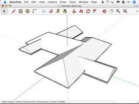 sketchup tutorial intersect sketchup using intersect with model to make roofs youtube