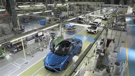 toyota product line toyota mirai production line plant interior and parts