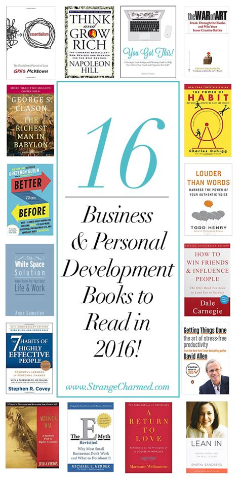 Business And Personal Development 16 business personal development books you must read in