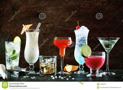 holiday cocktails background selection of festive christmas drinks stock photo image