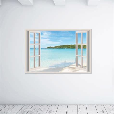 piastrelle da muro adesivi da parete 3d seaside window finestra sul mare