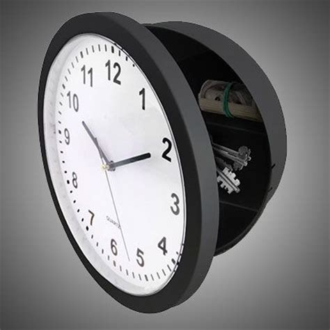 Safety Clock Safe by Safe Wall Clock 38 95 World Geekery