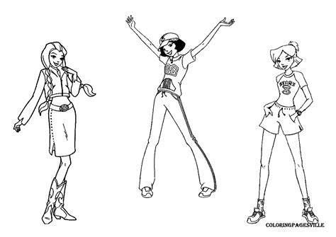 Free Coloring Pages Of Totally Spies Sam Totally Spies Colouring Pages