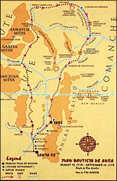 de anza map peaks country de anza cuerno verde