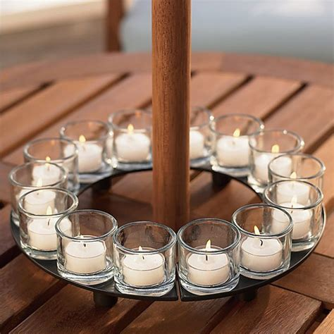 Patio Umbrella Candle Holder Encore Candle Holder Centerpiece Tealight Candleholders By Crate Barrel Create Your Own