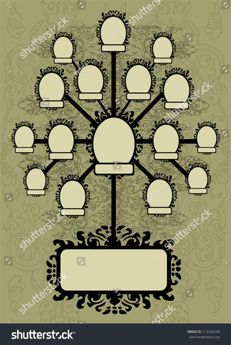 Vector Family Tree Design Frames Autumn Stock Vector 113336239 Shutterstock Vector Family Tree Design With Frames And Autumn Leafs Place For Text