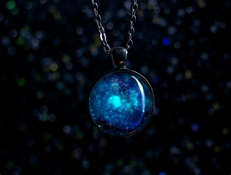 how to make glow in the jewelry glow in the galaxy necklace