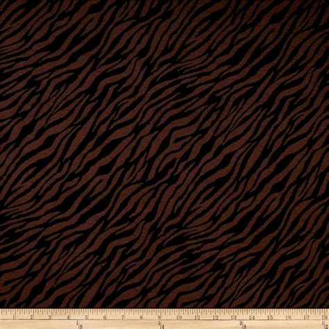black zebra double knit jacquard brown black zebra print discount