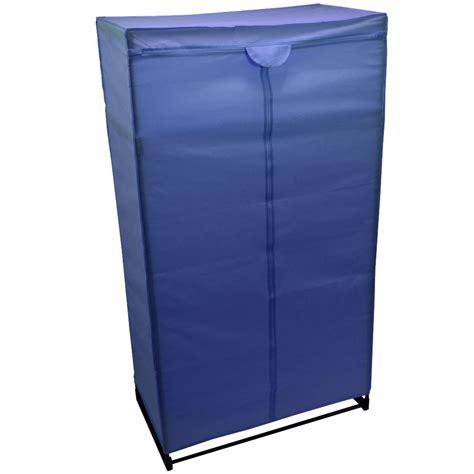 Blue Canvas Wardrobe by Wardrobe Blue Canvas Rail Bedroom Storage Hanging