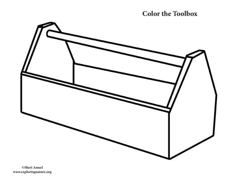 box outline template toolbox template for clipart best