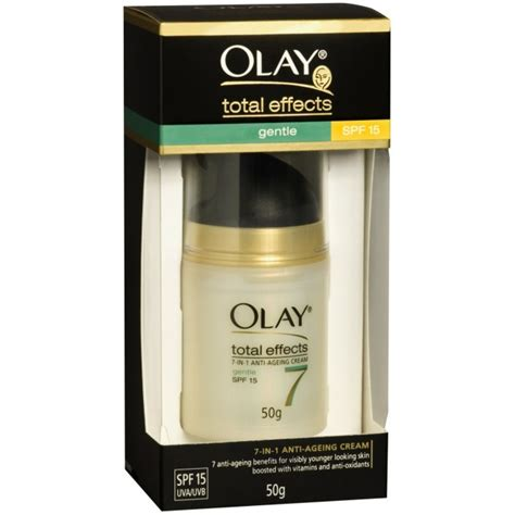 Olay Total Effects Day Gentle Spf 15 olay total effects gentle uv moisturiser with spf 15 50g