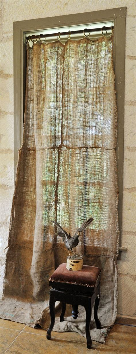 primitive burlap curtains 1000 ideas about rustic window treatments on pinterest