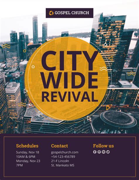 Free Revival Flyer Template 21 revival flyers free psd ai eps free premium