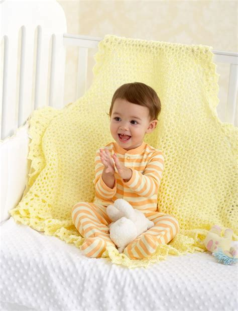 Crochet Baby Blanket Bernat by Lace Border Blanket Allfreecrochet