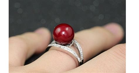 Engagement Ring Sweepstakes 2017 - princess red simulated pearl wedding ring giveaway joe