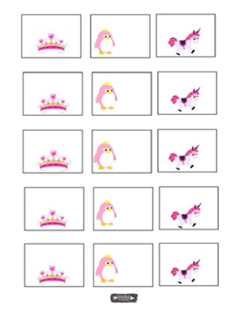 Tiara Unicorn Pink Penguin Name Tags Labels Charts Bulletin Boards Unicorn Label Template