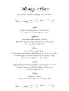 Wine Tasting Menu Template by Wine Pairings Tasting Menu Menu