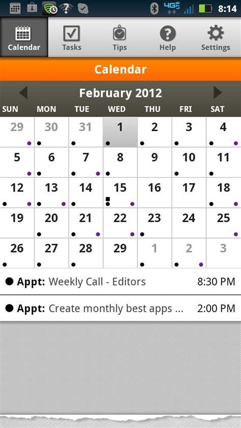 yahoo calendar android day timer plan2go sync outlook yahoo calendars events androidtapp