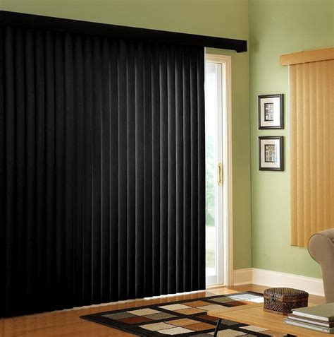 Curtains over vertical blinds sliding glass doors home design ideas