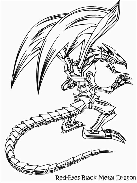 coloring pages of dragon eyes yugioh coloring pages