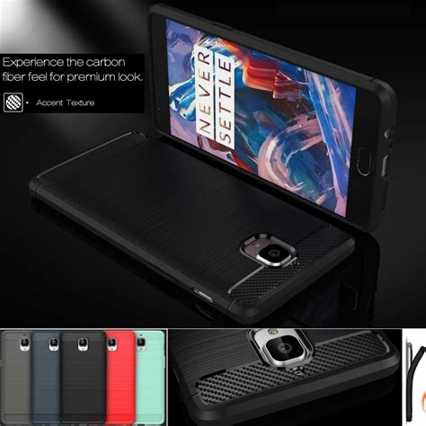Oneplus 3 Carbon Fiber Brushed Soft Casing Silikon Back Cover hybrid armor for oneplus 3 one plus 3 oneplus 3t one plus 3 3t carbon fiber texture brushed