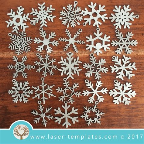 laser cut christmas snowflakes decorations laser ready