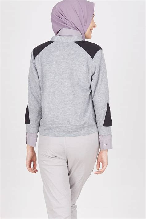 Bomber Crop Grey sell carliqua crop bomber jacket jackets hijabenka