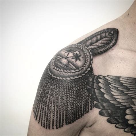 epaulette tattoo 15 fancy epaulette tattoos for your shoulders tattoodo