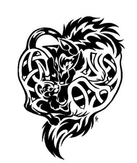 celtic cat tattoo designs 1239195497 celtic wolf and cat tattoo by wildspiritwolf