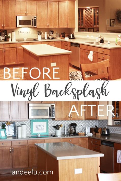 vinyl kitchen backsplash vinyl backsplash deal calling all renters