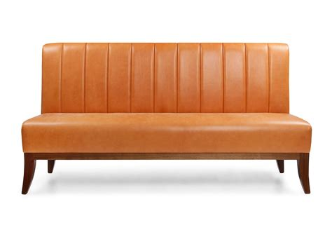 furniture brown banquette seating with wood table and