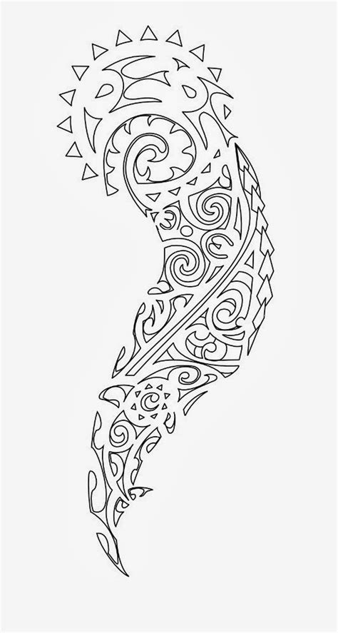free printable tattoo stencils tribal half sleeve tattoo