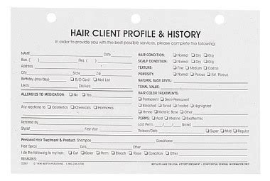 hair salon client cards template hair client profile cards supply