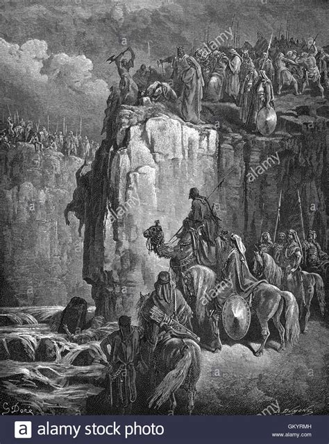 The Prophets Of Baal engraving of the slaughter of the prophets of baal by