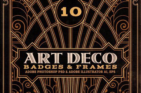 deco templates artdeco badges frames objects creative market
