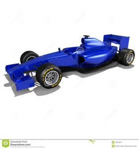 Blue F1 F1 Racing Car In Blue Stock Photos Image 19652073