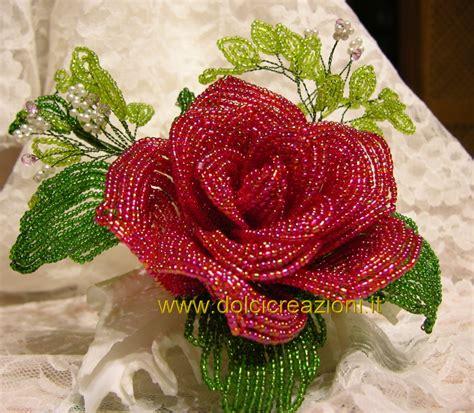 fiori con le perline bomboniere fiori di perline beaded flowers lavori