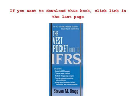 Download Pdf The Vest Pocket Guide To Ifrs Pre Order