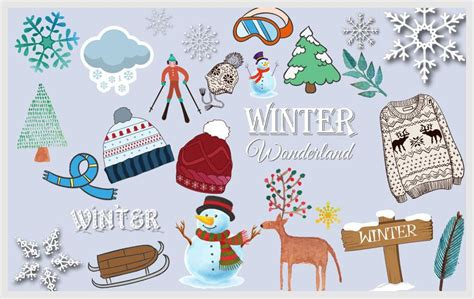 winter clipart 100 pieces discovery center store