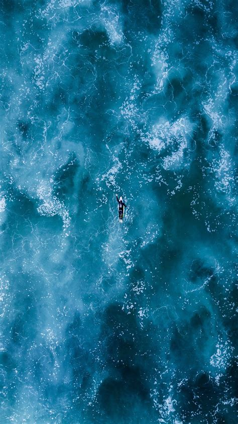 surfing ocean waves wallpaper