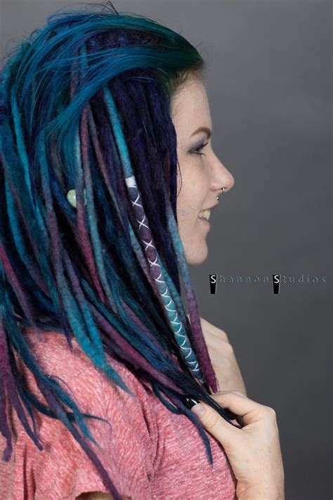 dradlock wool hairstyle wool dreads knots of color alt hair pinterest