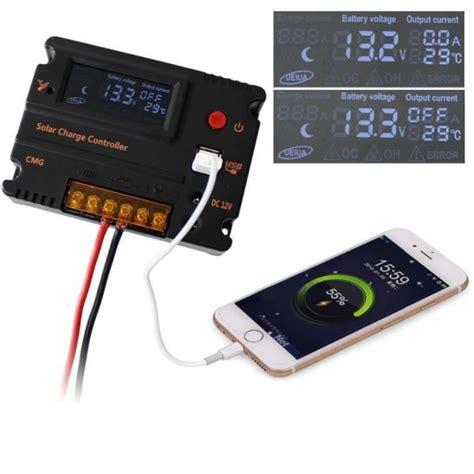 Solar Charge Controller 12v 24v 20apanel Surya Charger Lcd 12v24v 20a 3 cmg 2420 20a 12v 24v auto switch mppt dc usb output lcd solar panel battery regulator charge