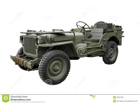 vintage jeep vintage military jeep isolated stock photo image 25097582