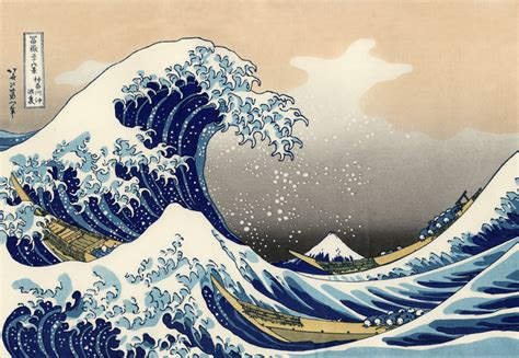 japanese painting the great wave kanagawa by katsushika hokusai
