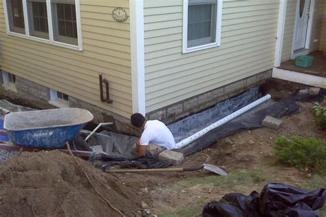 How to Build a French Drain   Exterior French Drain Systems