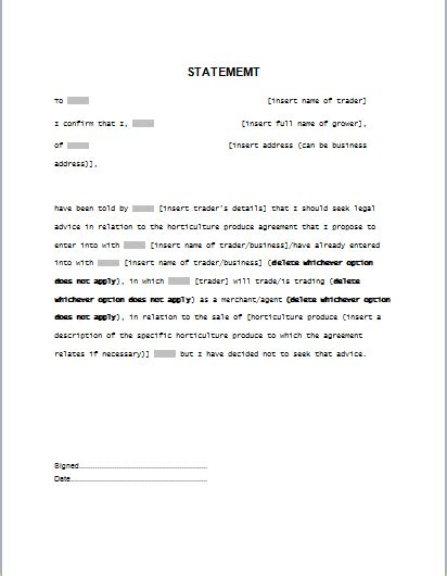 a will template statement template for word formal word templates