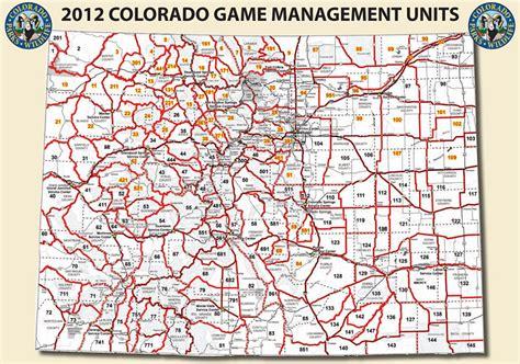 map of colorado gmu colorado game management unit map my blog