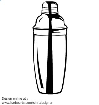 cocktail shaker vector cocktails cliparts
