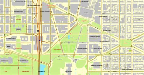 washington dc mall map pdf washington d c us vector map adobe illustrator