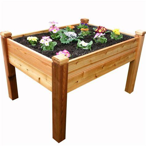 eden  ft   ft    wood raised garden bed rgb